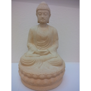 Buddha heller Farbe Statue