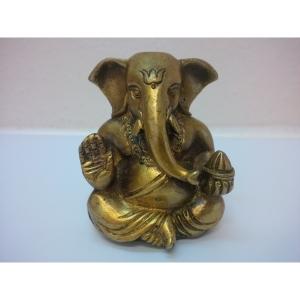 Ganesha 2 Arme aus Messing Sitzen 0,44..
