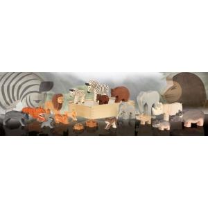Exotische Tiere (19 Figuren)