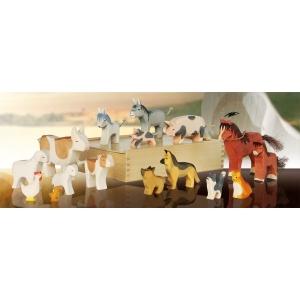 Tiere vom Bauernhof (16 Figuren)