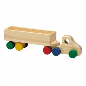 Holz-LKW- Container (BLAU-ROT) Abbildu..