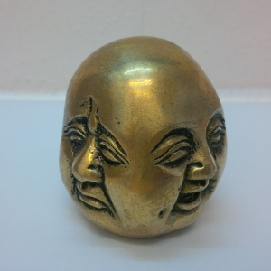 Buddha Kopf vier Emotionen 8 cm